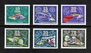 East Germany 1976 Aquarium Fishes/ Guppies full set of 6v. (SG E1891-E1896) MNH