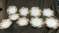 Arklow Pottery Ireland 812 Alton Pattern 4 Salad Plates 5 Saucers Rare Porcelain