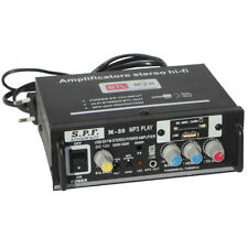 MINI AMPLIFICATORE S.P.F M-20 12 - 220 VOLT USB SD FUNZIONE KARAOKE JACK 3,5 MM