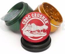 Croc Crusher - 4 Piece Herb Grinder - 1.5'' Pocket Size - Rasta - AUTHENTIC