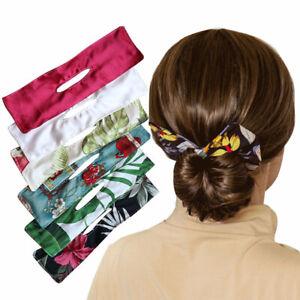 Deft Bun Hair Bands Women Summer Knotted Wire ladies Headband Print Hair Tools