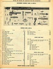 1962 Print Ad of Mossberg Model 620K & 620K-A Rifle Parts List