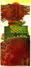 "Lo sciamano/Olio su cartone da Arturo hahonin/25 x 12 cm - 9.8"" x 4.7"""