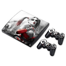 PLAYSTATION PS3 SLIM STICKER HARLEY QUINN ARKHAM BATMAN SKIN &2 Controller SKINS