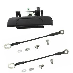 NEW 3pc Rear Tailgate Latch Handle & Cables Straps for 1995-2004 Toyota Tacoma