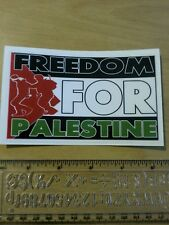 Freedom for palestine flag support palestinian flag bumper sticker middle east