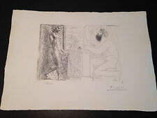 """Picasso """"Suite Vollard"""" Bloch #168, Limited Edition, Picasso Family Authorized."""