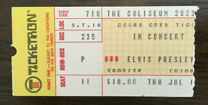 Authentic 1975 Elvis Presley concert ticket stub w/ FULL NAME and Certificate OA