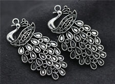 3/10/50pcs Tibetan Silver exquisite Peacock Jewelry Charms Pendant DIY 43x22mm