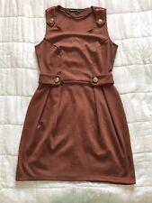 Womens Primark Atmosphere Brown Dress Size 14