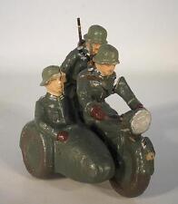 Motorrad mit Beiwagen Masse 3 Soldaten Militär Länge 7,5cm #023