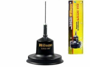 Wilson Little Wil  black magnet mag mount mobile CB Antenna kit w SS whip 305-38