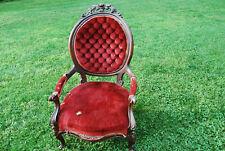 Vintage burgundy victorian chair