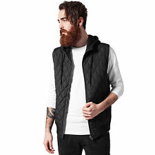 urban Classics Tb1261 Diamond Quilted Hooded Vest s Blk/blk