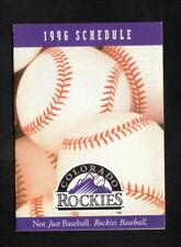 Colorado Rockies--1996 Pocket Schedule--Coors