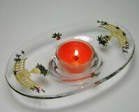 HOLMEGAARD *Golden Christmas* GLASS CANDLE HOLDER ~ MICHAEL BANG & Jette Frolich