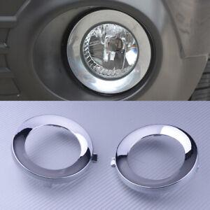Chrome Front Fog Light Lamp Cover Trim Ring For Subaru Forester 2009-2013