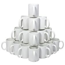 Blank 11 oz White Mugs for Sublimation Heat Press - 36 piece case