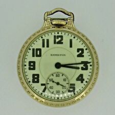 Antique 1939 Hamilton 992 Elinvar 10k Gold Filled Railroad Pocket Watch
