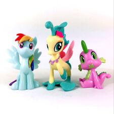 3Pcs My Little Pony Egmont Magazine Princess Skystar seapony Rainbow Figure toy