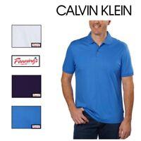 Calvin Klein Men's Liquid Cotton Short Sleeve Polo Shirt VARIETY COLORS & A12