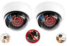 2x Dummy-Kameraattrappe Domekamera Fake Videoüberwachung Kamera Attrappe