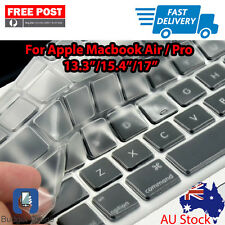 "2 x Clear Keyboard Case Cover Protector for Apple MacBook 13.3"" 15.4"" With Issue"