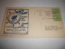 USS HOLLAND AS-3 Letter envelope 1933 Navy Day WW2 Submarine tender  warship