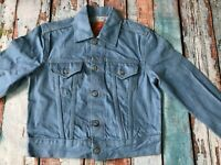 EVISU MANIACS SKY BLUE SELVEDGE DENIM JACKET SIZE SMALL