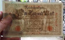 ALEMANIA 1000 MARCOS 1910 billete EBC SELLO ROJO Pick 44 Ro.45 XF REICHSBANKNOTE