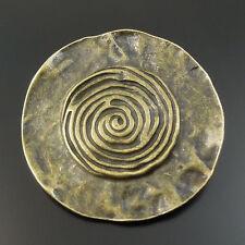 32614 Antiqued Bronze Alloy Round Spiral Vortex Pendant Charms 35*35*2mm 8pcs