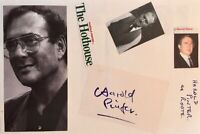 HAROLD PINTER & Cast. Genuine Handsigned Signatures on 2 12 x8 pages.