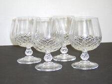 "Set of 4 CRISTAL D'ARQUES Durand Crystal LONGCHAMP 5-1/8"" High Brandy Glasses"