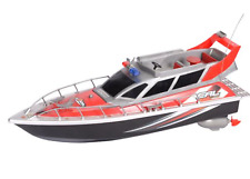 """17"""" Radio Control Patrol Boat Rc Fast Red Electric 4ch Two Motor"""