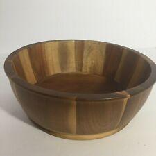 💛 Threshold Real Acacia Wood Serving Bowl Kitchen Decor Tabletop Counterto I6