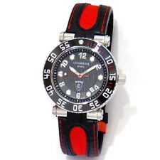 *RARE* Red Charriol Rotonde Diver Swiss Watch