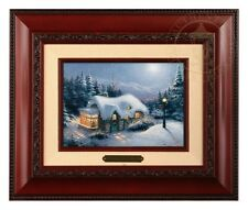 Thomas Kinkade Silent Night - Brushwork (Brandy Frame)