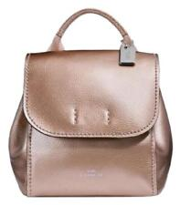 COACH DERBY SMALL LEATHER BACK PACK ROSE GOLD NWT