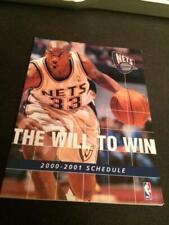 2000-01 New Jersey Nets Basketball Pocket Schedule #33 Stephon Marbury