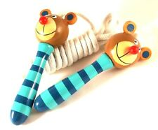Great fun Animal skipping rope - wooden handle and Bear design