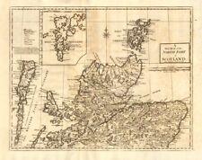 Le nord de l'écosse. par andrew johnston de camden britannia 1772 old map