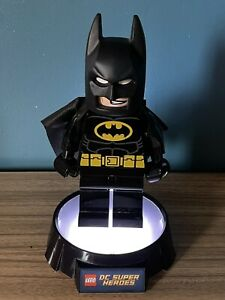 Lego Batman Extra Large Mini figure Torch With Rare Night Light Stand