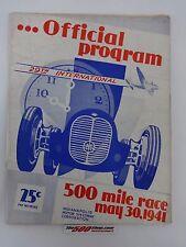 1941 Indianapolis 500 Official Program Floyd Davis Mauri Rose