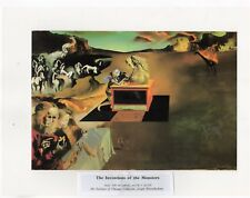"SALVADOR DALI  Print Book Plate 9x12--""The Inventions of the Monsters"" 1937"