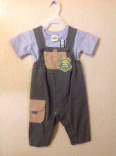 Harajuku Mini Baby Infant 2 Pc Outfit Blue Overalls Yellow T-Shirt size 9M