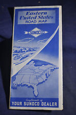 1950 Sunoco Oil Map of Eastern United States