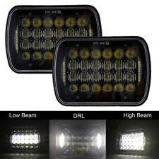 Pair 7''x6'' CREE 85W 5D LED Headlight DRL Hi/Lo Beam Fr Jeep XJ YJ Cherokee GMC