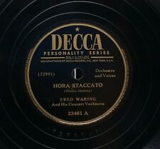 FRED WARING DECCA 23461 HORA STACCATO/MEADOWLAND 1945 78 RPM