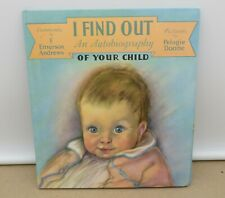 Antique I Find Out An Autobiography of your Child Baby Book F Emerson Andrews