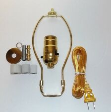 "Jug or Bottle Lamp Adaptor Kit with 8"" Harp & Finial Brass Plated NEW 30342JB"